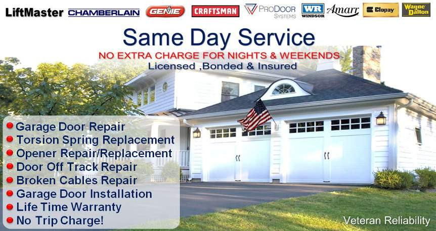 Veteran Garage Door Repair Dallas Fort Worth No Drive