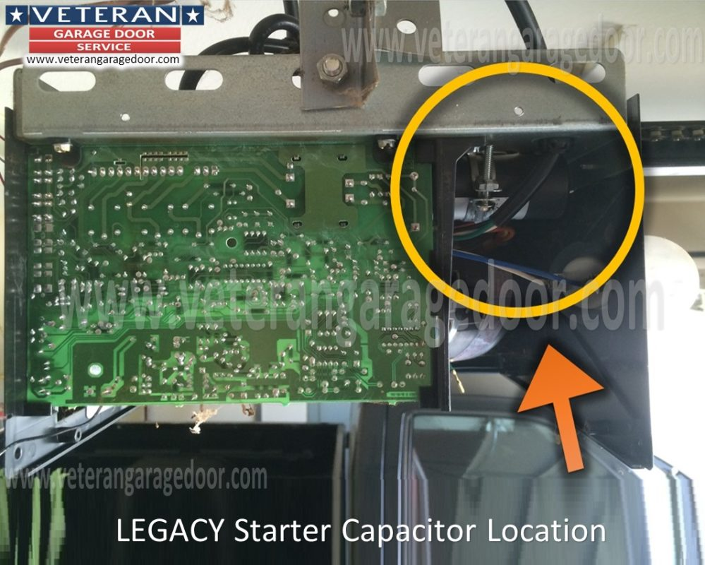 Replace The Starter Capacitor On A Garage Door Opener Genie Pro Wiring Diagram Overhead Legacy