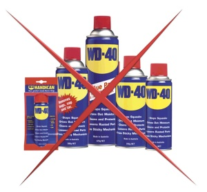 Photo – WD40 with a red X on it