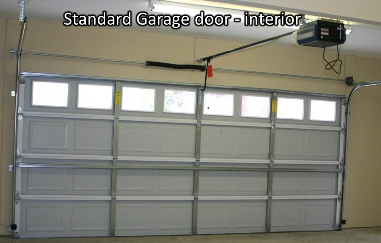 Photo 1 U2013 One Layer Garage Door From The Inside (no Insulation)