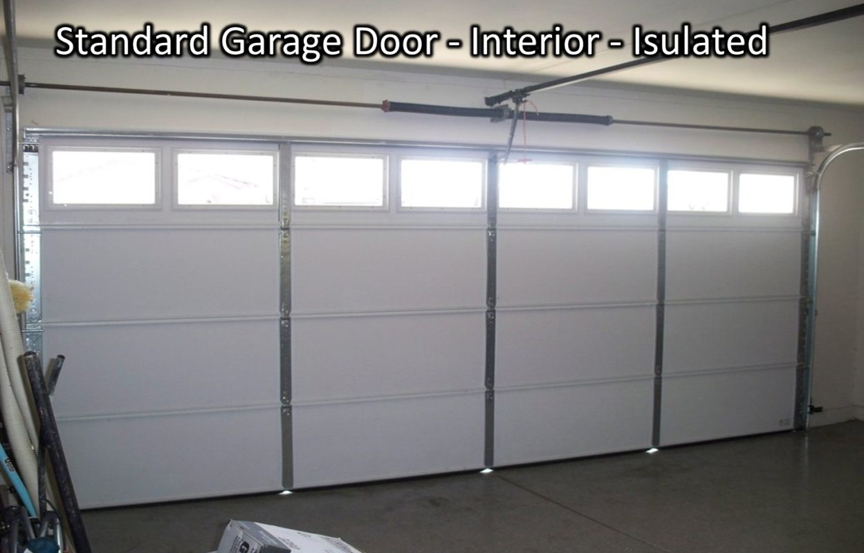 how to insulate garage doorIs it better to have a steel back garage door or insulated one