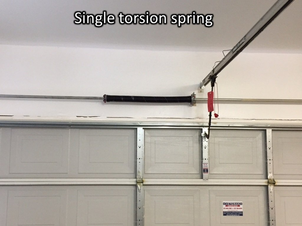 Photo 2 – Single torsion spring on a spring tube (prefer