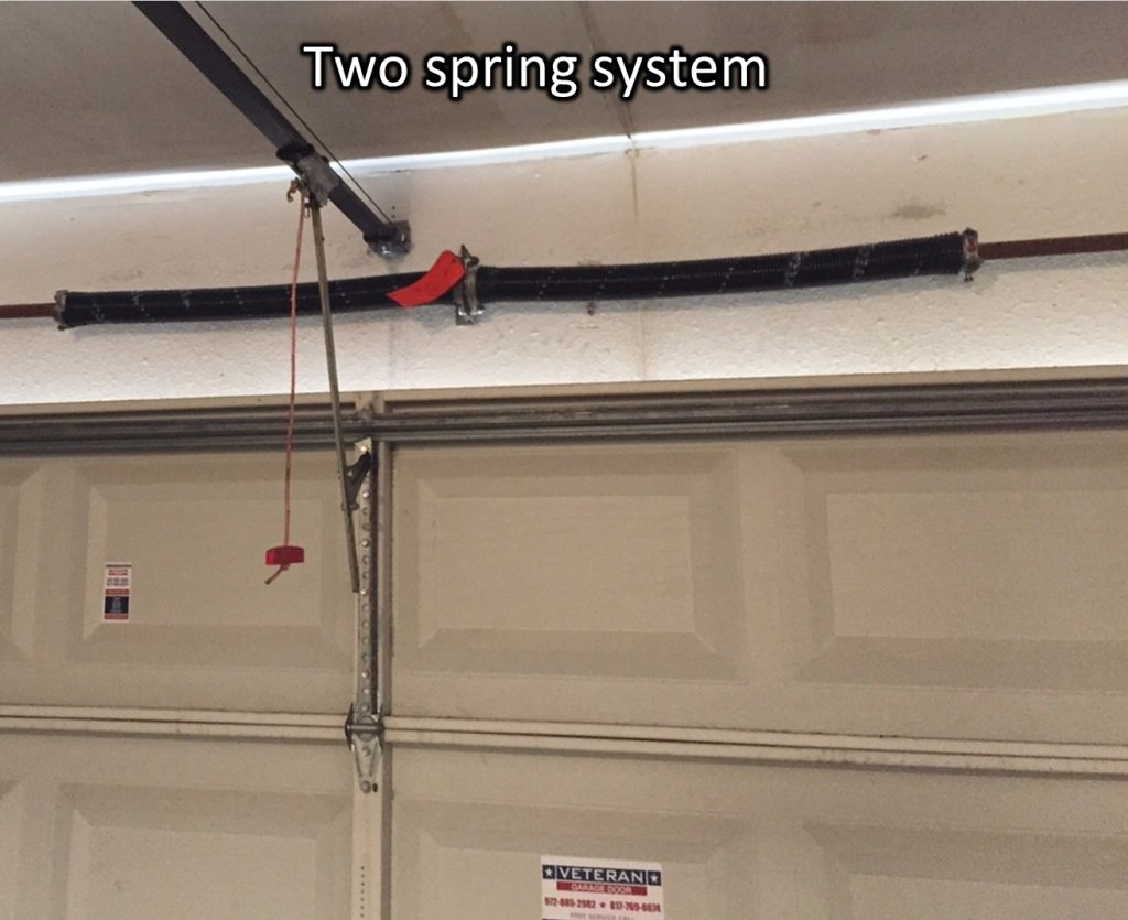 Whats the cost to replace garage door torsion springs photo 3 two spring system on a spring tube rubansaba