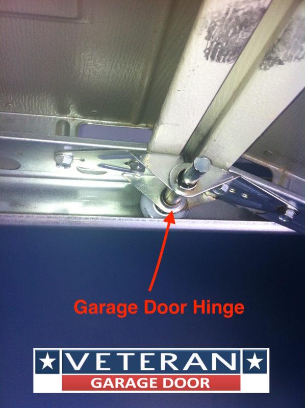 Garage door hinges for Veteran garage door