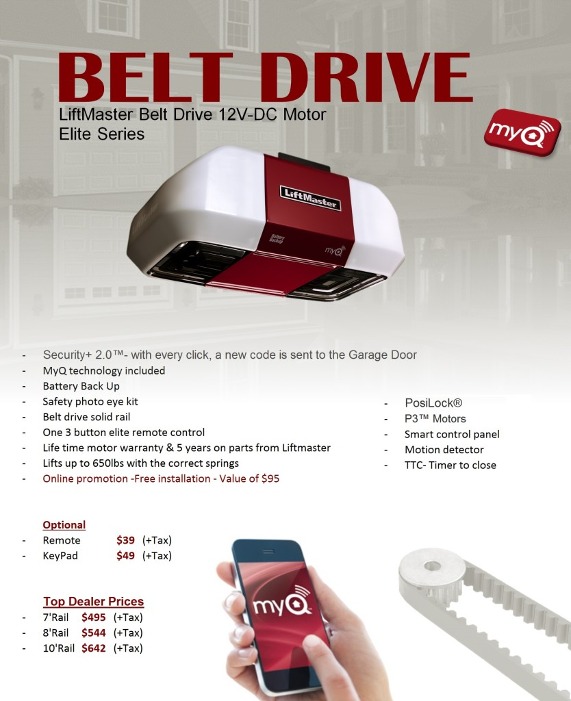 Belt Drive Opener Liftmaster