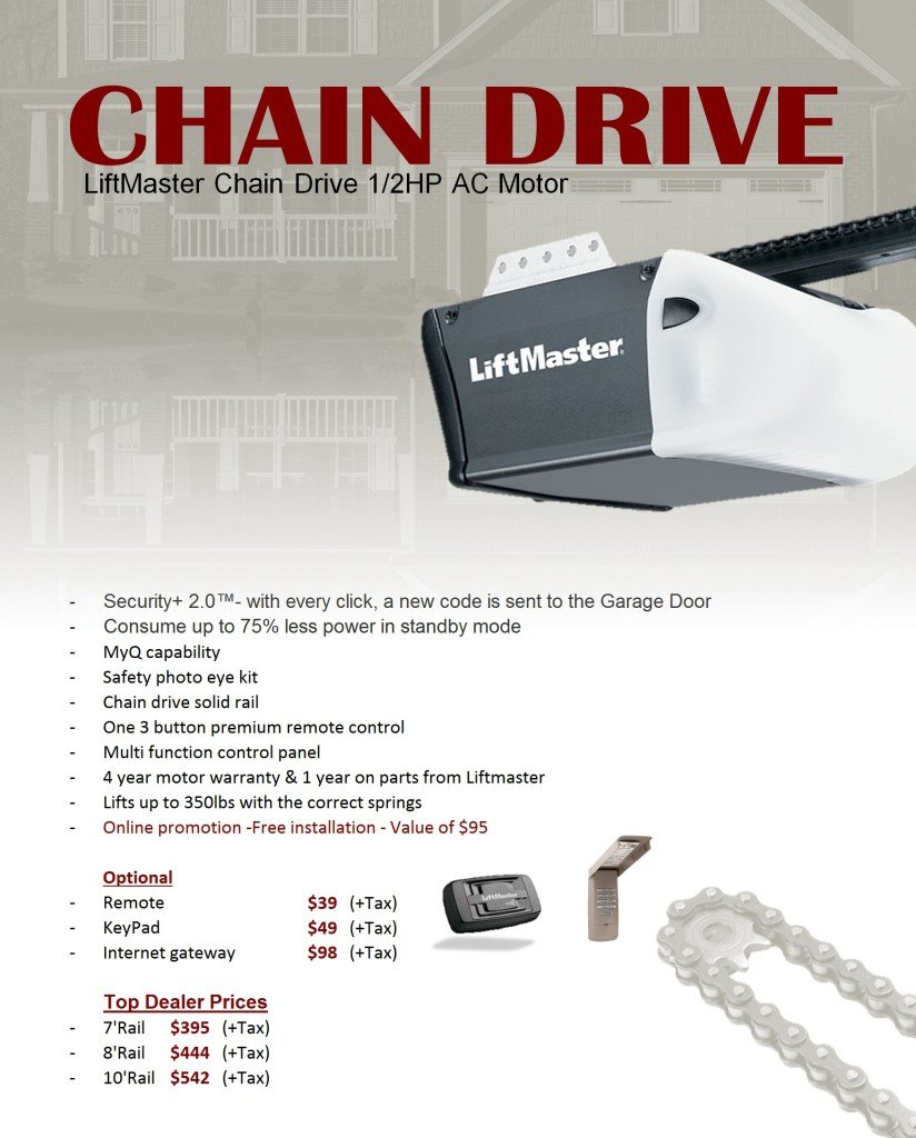 chain drive opener liftmaster. Black Bedroom Furniture Sets. Home Design Ideas