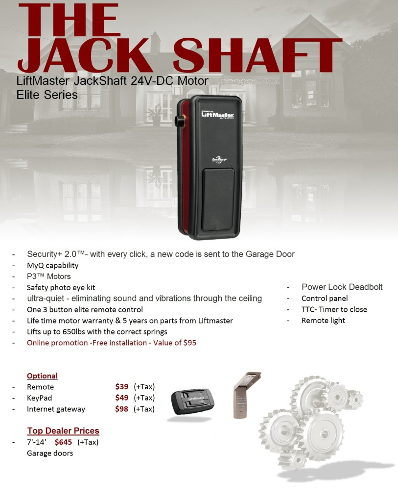 Jack Shaft Opener Liftmaster
