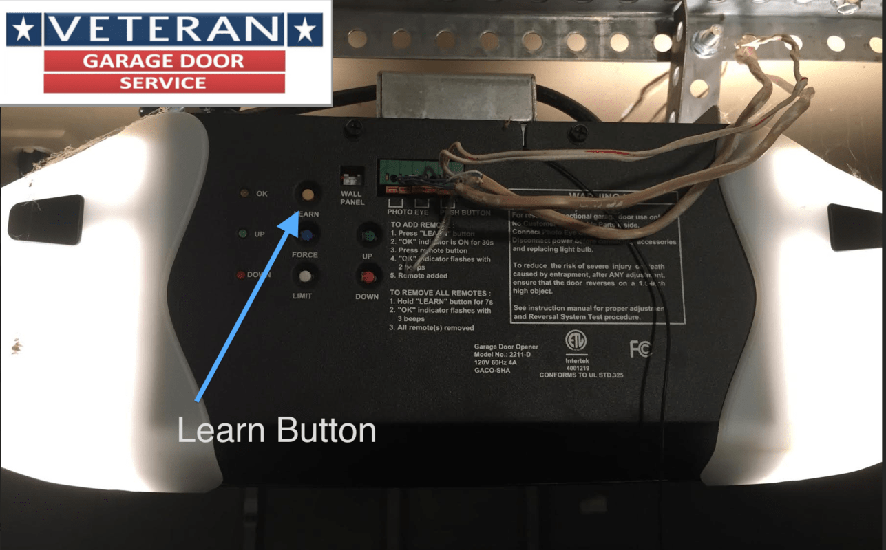 Programming Guardian Garage Door Opener Model 315