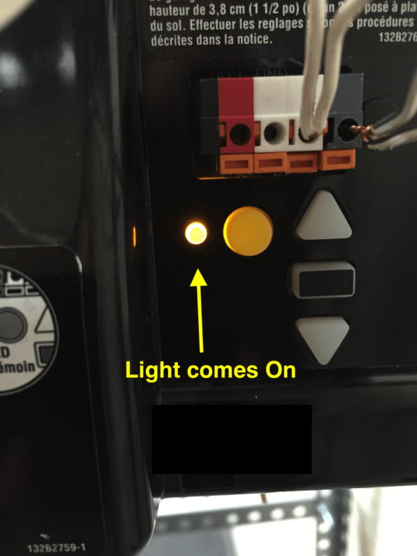Yellow Learn Button Light