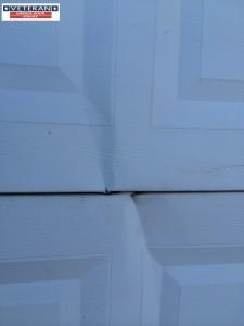 Split Dent Garage Door