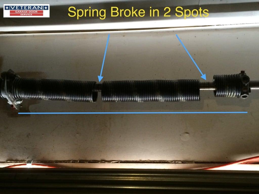 My Garage Door Spring Broke It Has One Spring Should I