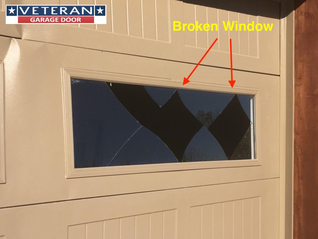 How Do You Repair A Broken Garage Door Window