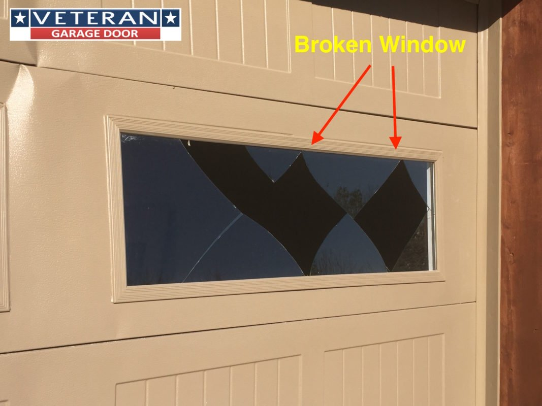 How Do You Repair A Broken Garage Door Window
