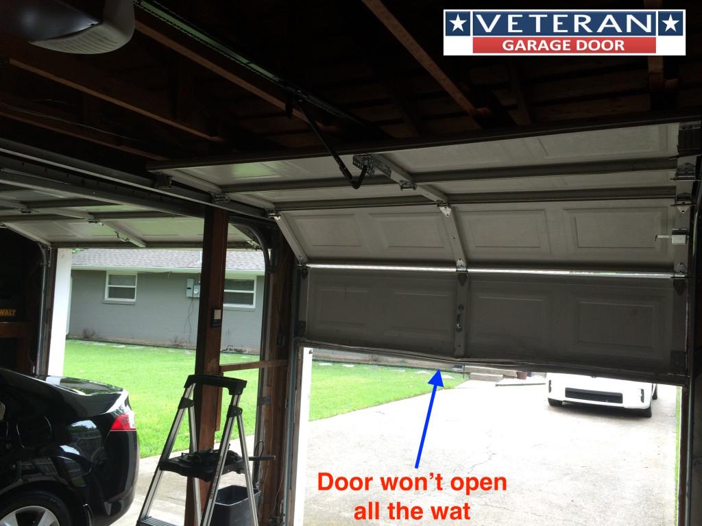 Why Won T My Garage Door Opener Open The Door All Way Up
