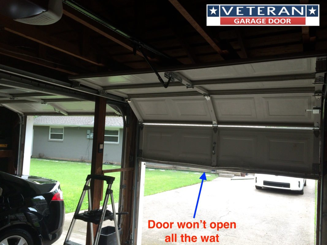 garage door won t openWhy wont my garage door opener open the door all way up
