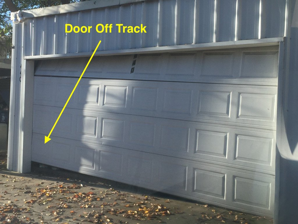 garage door of track