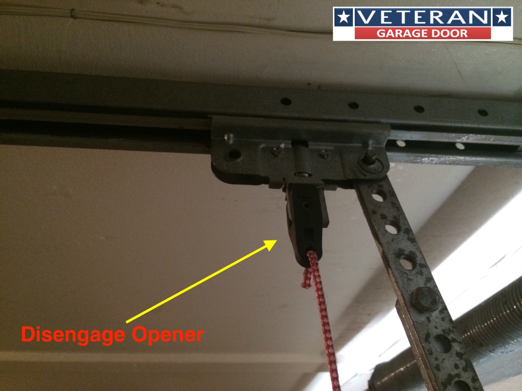 not engage garage door opener