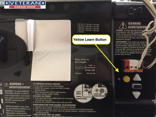Garage Door Opener Yellow Learn Button X on Craftsman Garage Door Opener Parts
