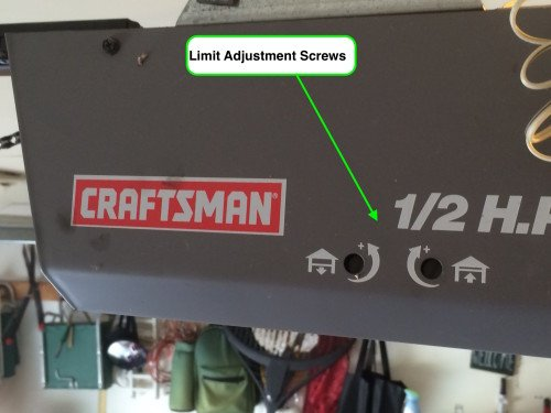Chamberlain/Liftmaster Travel Limit and Force Adjustment
