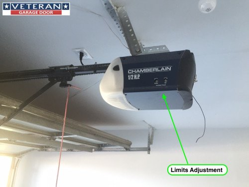 Chamberlain liftmaster travel limit and force adjustment for Garage door alignment