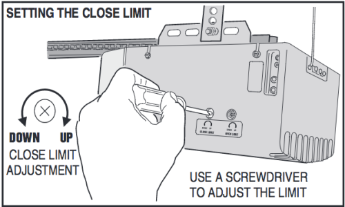 Programming linear garage door opener limit and force for Garage door alignment