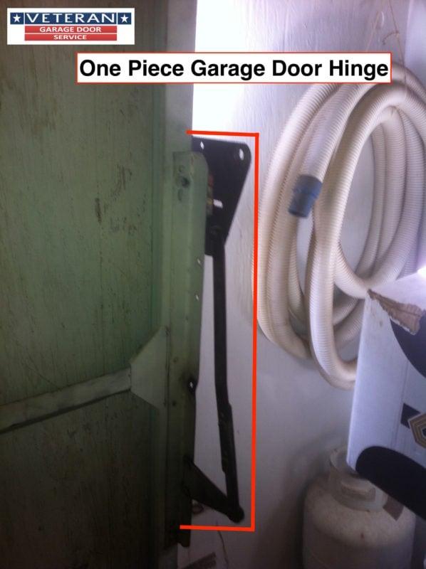 One piece garage door spring for 1 piece garage door