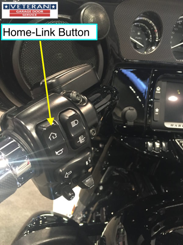 Hd Garage Door : Home link button on harley davidson