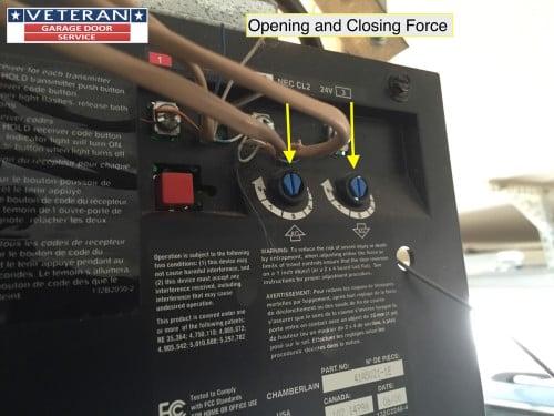opening-and-closing-force-garage-door opener
